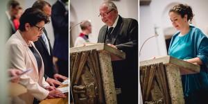 Hochzeit, Hochzeitsfotografie, Astrid Ebert Fotografie, Hochzeitfotograf Aachen, Salvatorkirche Aachen, Brautpaar, kirchliche Trauung, Gäste, Fürbitten