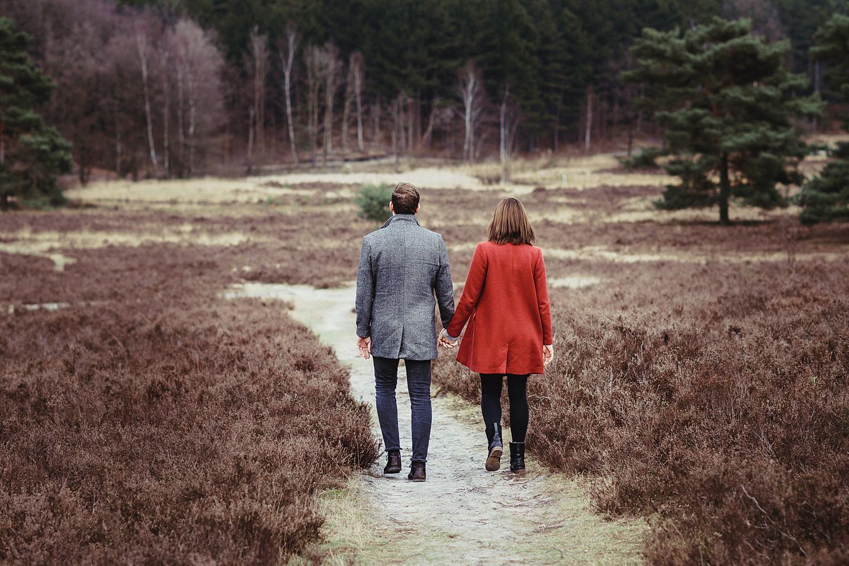 natürliche Paarbilder in der Heide