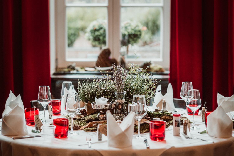 Hochzeitsdekoration Tische | Hochzeitsfotograf Aachen