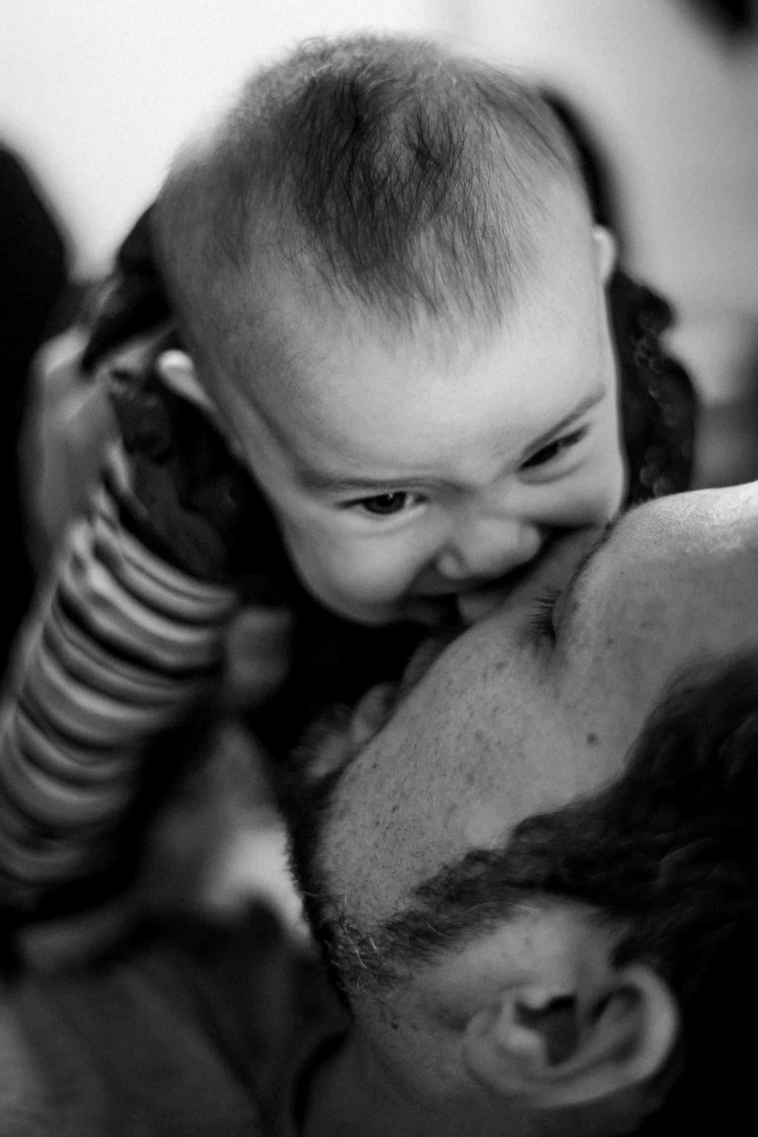 Baby mit Vater