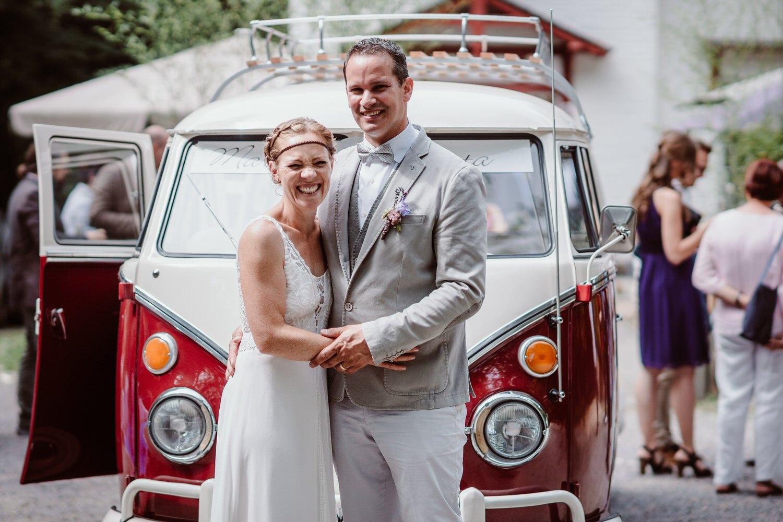 VW Bulli zur Hochzeit
