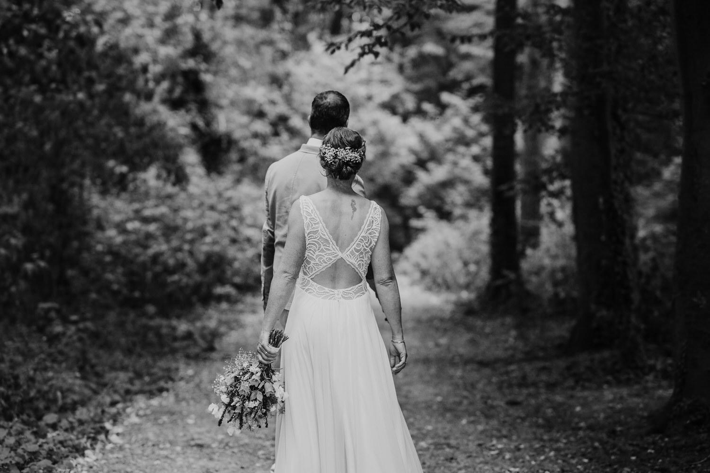 Hochzeitsbilder im Wald
