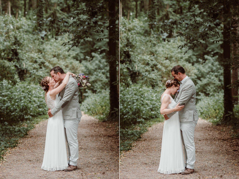 Brautpaarbilder im Wald