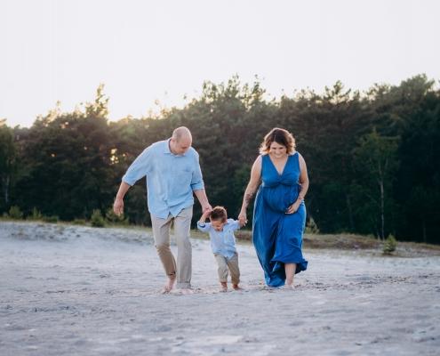 Familienfotografie im Abendlicht
